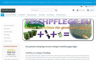 teichpflege.eu Webseiten Screenshot