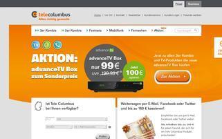 telecolumbus Webseiten Screenshot