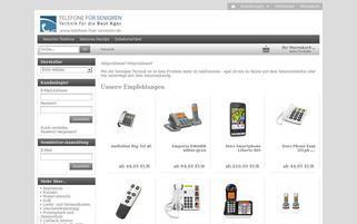 Telefone für Senioren Webseiten Screenshot