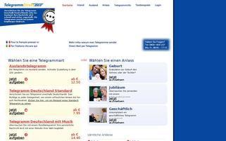 Telegrammdirekt Webseiten Screenshot