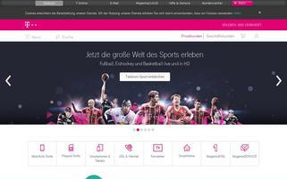 Telekom Webseiten Screenshot