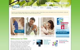 TENA Webseiten Screenshot