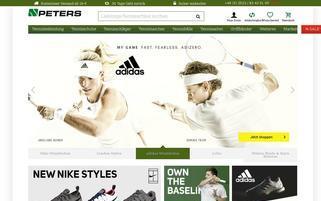 Tennis Peters Webseiten Screenshot