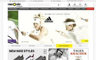 Tennis Point Webseiten Screenshot