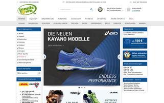 Tennis Town Webseiten Screenshot