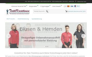 textilkreationen.de Webseiten Screenshot
