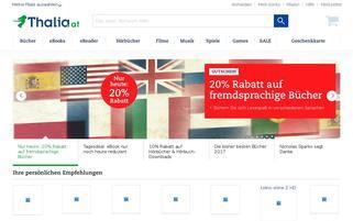 Thalia Österreich Webseiten Screenshot
