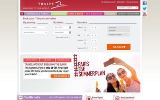 Thalys Webseiten Screenshot