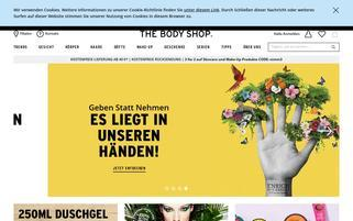 thebodyshop.de Webseiten Screenshot