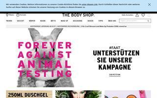 The Body Shop Österreich Webseiten Screenshot