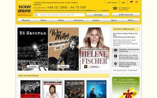 Ticket Online Webseiten Screenshot