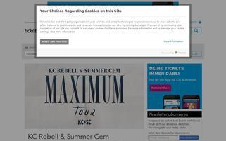 Ticketmaster AT Webseiten Screenshot