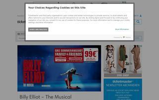 Ticketmaster Webseiten Screenshot