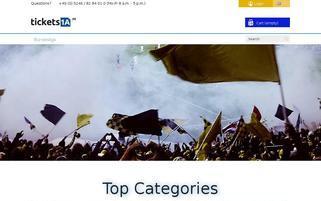 Tickets1a Webseiten Screenshot