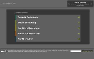 Tier-Traum Webseiten Screenshot