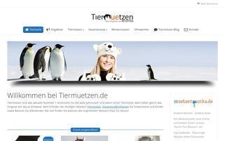 Tiermützen Webseiten Screenshot