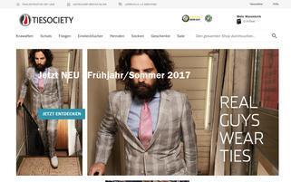 tiesociety.de Webseiten Screenshot