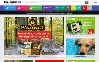 Tiierisch Webseiten Screenshot