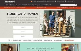Timberland Webseiten Screenshot