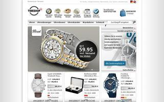 Timeshop24 Webseiten Screenshot