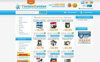 Tintencenter Webseiten Screenshot