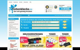 Tintenklecks Webseiten Screenshot