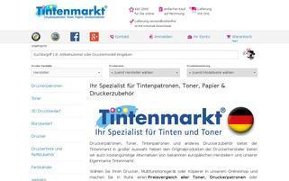 Tintenmarkt Webseiten Screenshot