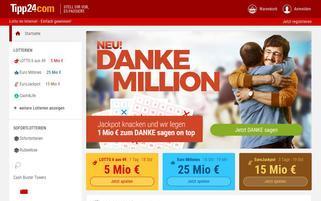 Tipp24 Webseiten Screenshot