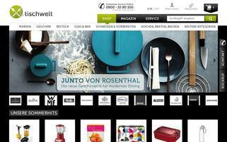 Tischwelt Webseiten Screenshot
