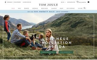 Tom Joule Webseiten Screenshot