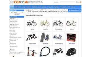 toma-versand.com Webseiten Screenshot