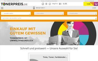 Tonerpreis Webseiten Screenshot