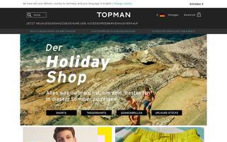 TOPMAN Webseiten Screenshot