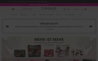 Topshop Webseiten Screenshot