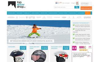 TopSnowShop Webseiten Screenshot