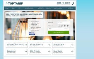 Toptarif Webseiten Screenshot