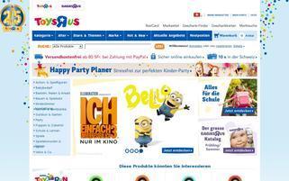 TOYS R US Schweiz Webseiten Screenshot