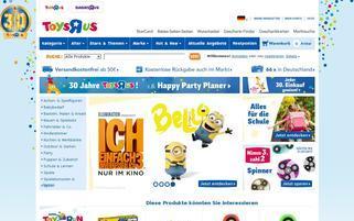 """Toys""""R""""Us Webseiten Screenshot"""