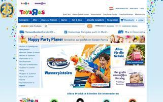 ToysRus Österreich Webseiten Screenshot