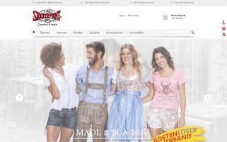 Trachten-Dirndl-Shop Webseiten Screenshot