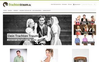 Trachtentraum Webseiten Screenshot