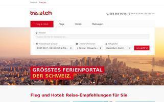 Travel.ch Webseiten Screenshot