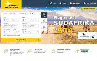 Travel Overland Webseiten Screenshot