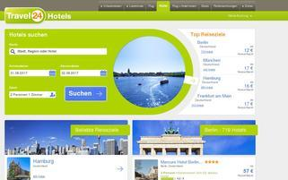 Travel24 Hotels Webseiten Screenshot