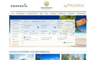 Travel3 Webseiten Screenshot