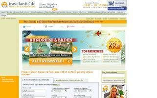 Travelantis Webseiten Screenshot