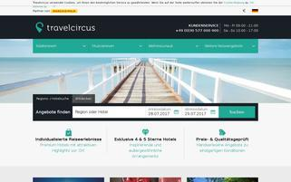 TravelCircus Webseiten Screenshot