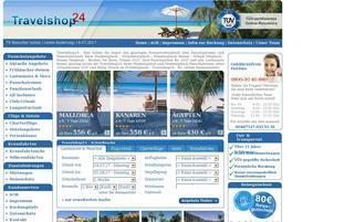 Travelshop24 Webseiten Screenshot
