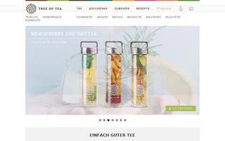 Tree of Tea Webseiten Screenshot