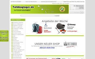 Trekkinglager Webseiten Screenshot
